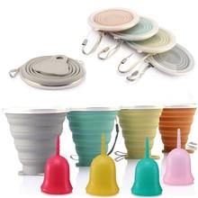Складная силиконовая чашка для менструальных чашек, многоразовая силиконовая чашка для отдыха, туризма, путешествий, 50 шт