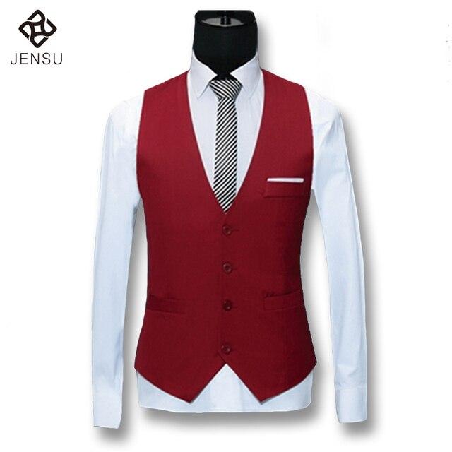 2016 Men Vest Suit Blazers Waistcoat Veste De Loisir Notched Lapel Blazers Men's Casual Fashion Slim Fit Sleeveless Blazers Male