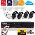 Sunchan 1080 p full hd 8ch dvr 4 unids ahdh 2.0mp sony 1080 p bullet outdoor home vigilancia seguridad cámara de visión nocturna sistema