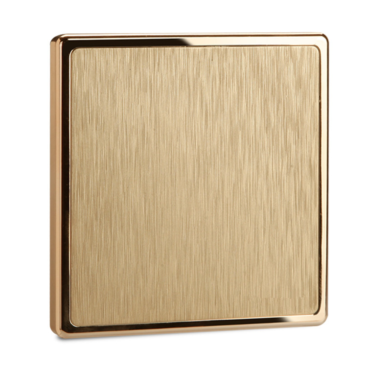 UK Standard Luxury wall Switch Panel,110~250V push button switch Gold 1 gang 1 way light Switch uk standard luxury gold switch panel wall switch 110 250v 16a push button switch and 4 gang 2 way light switch