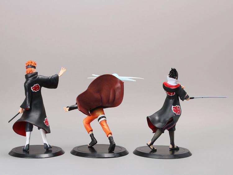 NARUTO Figure Uzumaki Naruto + Uchiha Sasuke + Pain 3 Piece Set 2