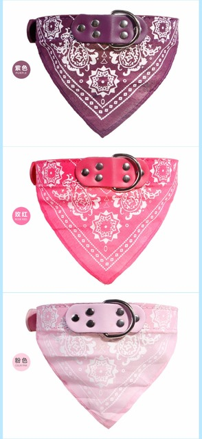 Pet dog collar printed fashion pet supplies scarf dogs Cat collar leather personality pet collar