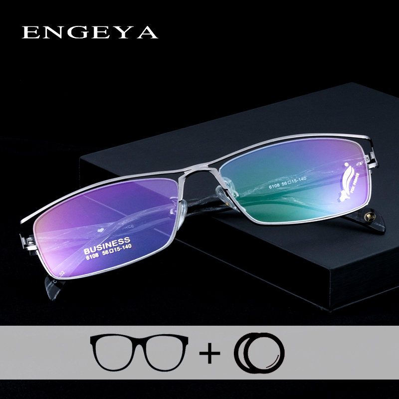 Alloy Men s Glasses Fashion Brand Designer Clear Optical Transparent Myopia Hyperopia Prescription Eyewear Hollow Design