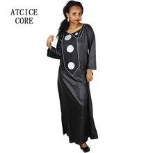 Afrika elbiseler kadın için yumuşak malzeme nakış tasarım elbise A266