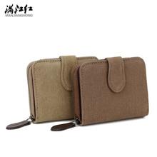 Heißer Verkauf Mode Brieftaschen Männer Neue Leinwand Qualität Khaki Kaffee Kurz Stil Frauen Geldbörse Kartenhalter Freies Verschiffen 1334