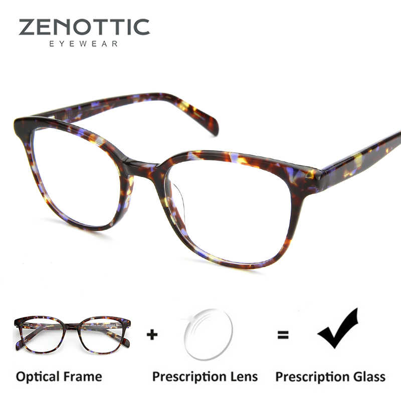 b72e1fff9f5 ZENOTTIC Myopia Hyperopia Prescription Glasses Women Optical Myopia  Eyeglasses Aspherical Anti Blue Ray Glasses Photochromic