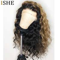 360 Full Lace Wig Human Hair Ombre 1B/27 blonde Pre Plucked Curly Lace Front Wig With Baby Hair Brazilian Hair Wig Remy Hair
