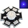 50 pçs/lote 1 W 2 W 3 W 45mil Azul Royal 445nm-460nm Com 20mm Estrela Base de Substrato LED Bead Chip Para Planta de Crescimento