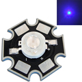 50pcs/lot 1W 2W 3W 45mil Royal Blue 445nm-460nm With 20mm Star Base Substrate LED Bead Chip For Plant Growth