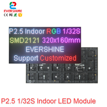 Crazy Price P2.5 Indoor Full Color Smd2121 Led Display Module 1/32 Scan 2.5mm  RGB Panels size 160x160mm