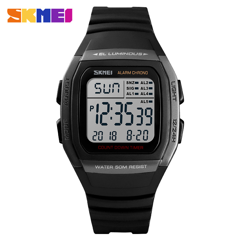 SKMEI Luxury Brand Mens Sports Watches LED Digital Watch Men Waterproof Military Wrist Watches For Men Clock Relogio MasculinoSKMEI Luxury Brand Mens Sports Watches LED Digital Watch Men Waterproof Military Wrist Watches For Men Clock Relogio Masculino