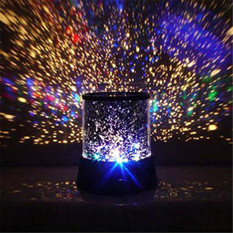 LED Night Light Projector Starry Sky Star Moon Master Children Kids Baby Sleep Romantic Colorful Led Projection Lamp