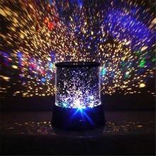 LED gece ışık projektör yıldızlı gökyüzü yıldız ay ana çocuk çocuk bebek uyku romantik renkli Led projeksiyon lambası