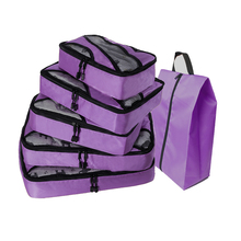 Suitcases And Travel Bags Men Luggagebag Waterproof Travel Bag Nylon Packing Cubes Purple Travel Bag Packing Cubes