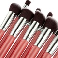 Hot Sale 10 pcs Professional makeup concealer brushes set foundation eye blending Flat Kabuki kit pinceis maquiagem ZL-8410