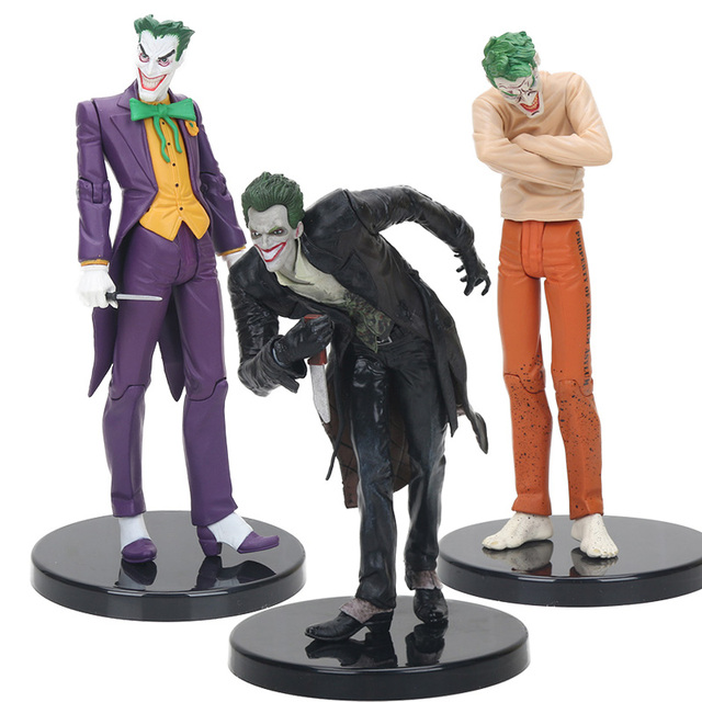 14-18 cm Superheroes The Dark Knight The Joker Ação PVC Modelo Figura Toy kids brinquedos Figura Coringa