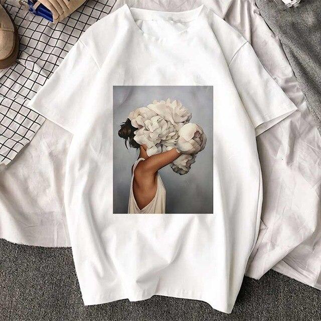 FIXSYS New Fashion Graphic Print Tshirts Cute Plus Size Tops Harajuku Casual Female Shirts Summer Short-sleeved Harajuku T-shirt