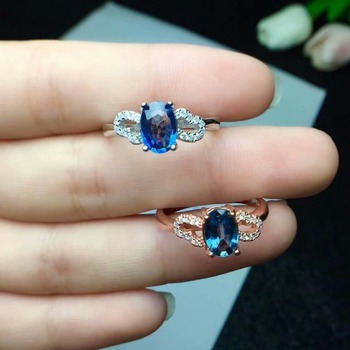 shilovem 925 silver sterling natural Natural sapphire stud earrings party fine Jewelry women party plan trendy new cj050701agl