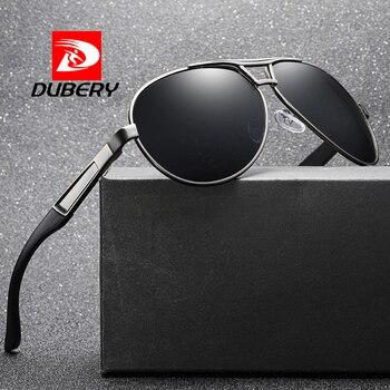 112baa0dc5 DUBERY clásico piloto Gafas de sol de la marca de los hombres zapatos de  conducción de moda de Gafas de sol polarizadas marco grande hombre aviador  Gafas de ...