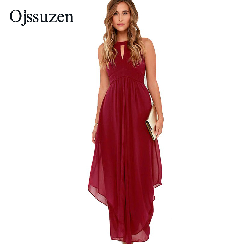 2018 Brand High Quality Wine Red Dress Wedding Party Maxi ... Red Dresses For Women 2018