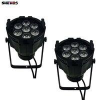 2pcs Lot LED Par Can 7x12W Aluminum Alloy LED Par RGBW 4in1 DMX512 Wash Dj Stage
