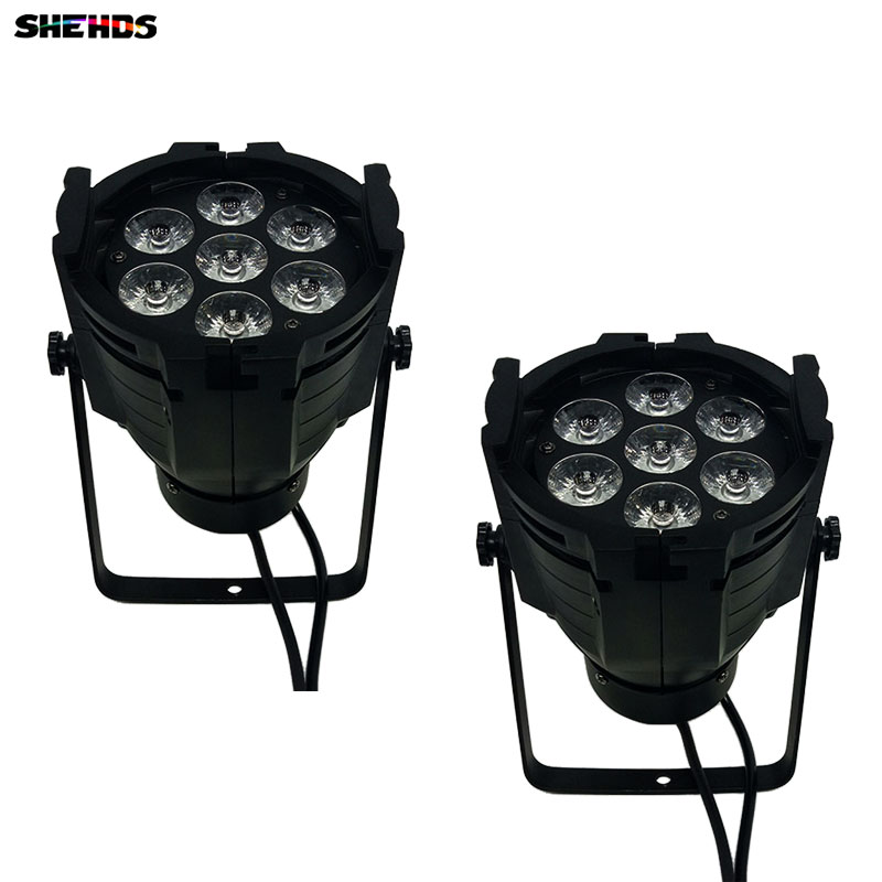 2pcs/lot LED Par Can 7x12W Aluminum alloy LED Par RGBW 4in1 DMX512 Wash dj stage light disco party light Dj Lighting 8x lot hot rasha quad 7 10w rgba rgbw 4in1 dmx512 led flat par light non wireless led par can for stage dj club party