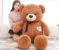 Мягкая игрушка большой 160 см темно коричневые Love Teddy Bear плюшевые игрушки, подушка Рождество подарок, b0782