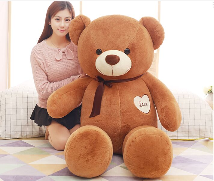 stuffed toy large 160cm dark brown love teddy Bear plush toy,throw pillow Christmas gift,b0782 90cm cute love bear plush toy teddy bear soft stuffed toy christmas gift new