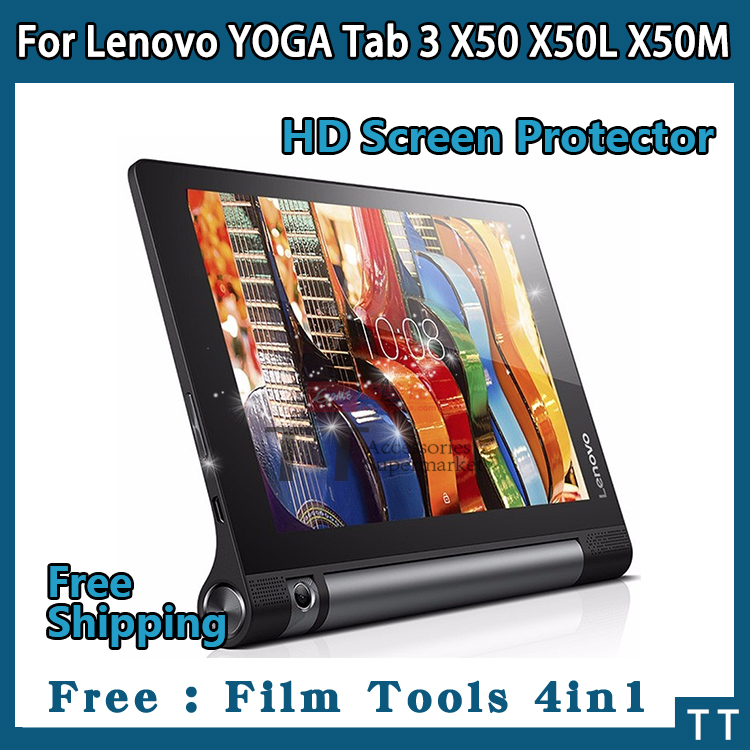 3 pieces/lot HD Screen protector For Lenovo YOGA Tab 3 X50 X50L 10.1 Tablet,YOGA Tab 3 X50 Protective Film+4 in1 Film Tools