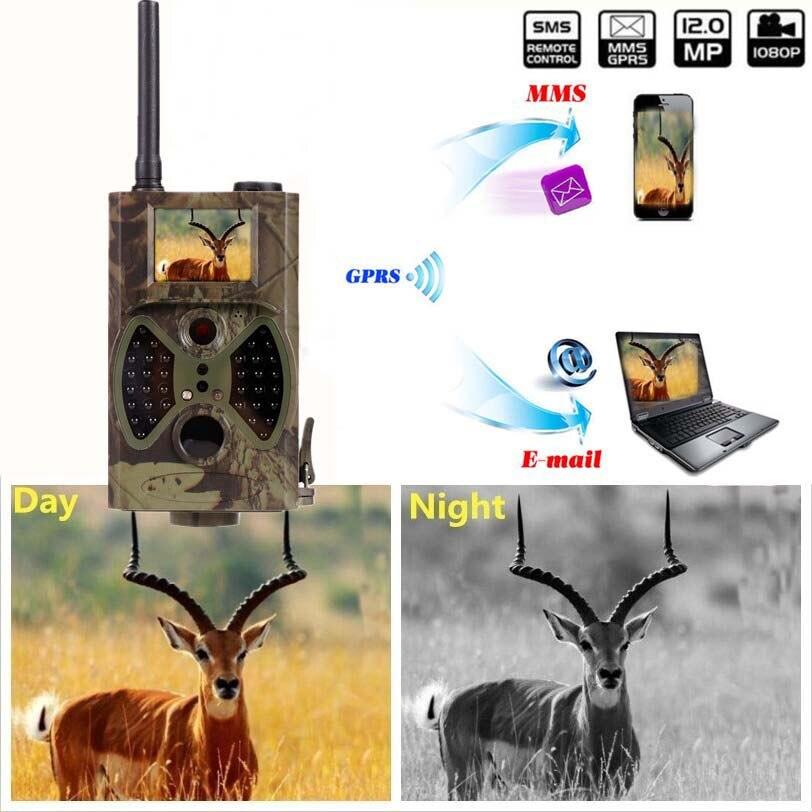 Hunting ir camera 12mp 1080p infrared hunting motion camera gprs mms 2G hunting game camera trail hc300m