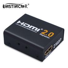 UNSTINCER 60 M HDMI Extender Adaptador de HDMI 2.0 Divisor Amplificador de Señal de Refuerzo Repetidor HDCP 2.2 EDID 1080P @ 60 HZ ancho de banda de Hasta