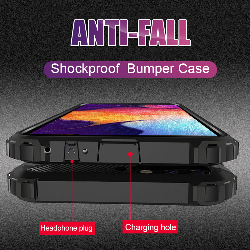 Luxury Armor Soft Bumper Case Cover On The For Samsung Galaxy A50 A10 A30 A40 A70 M20 Shockproof Case A50 Silicone Phone Case