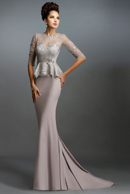 b60d519756c 2016 Mother Of The Bride Dresses Two Piece Silver Champagne Lace Appliques Gorgeous  Brides Mother Dresses