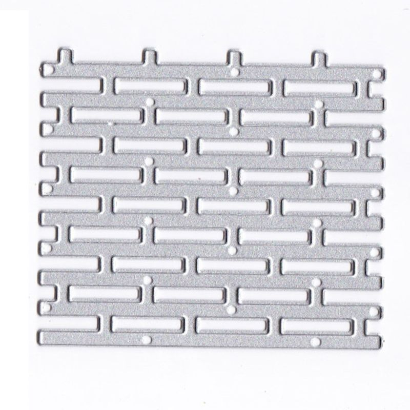 Wall Brick Metal Cutting Dies Stencil DIY Scrapbooking Album Stamp Paper Card Embossing Crafts Decor