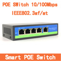 4 Puertos Ieee 802.3af POE Switch Inteligente 10 100 Mbps Switch PoE Power Over Ethernet Endspan Para Cámaras IP