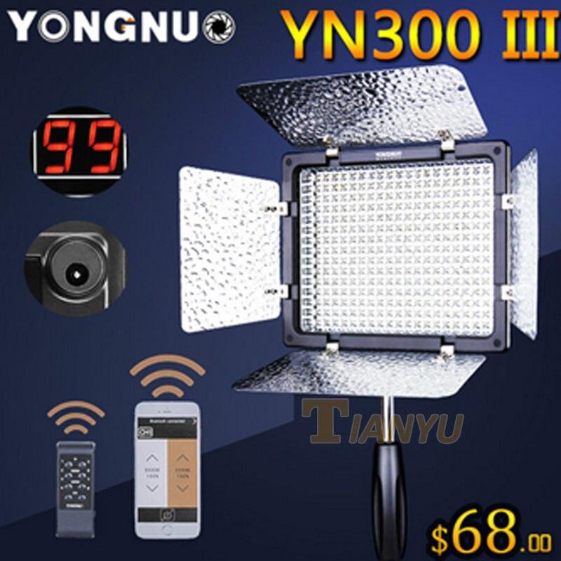 Newest Bi-Color Yongnuo YN300III YN-300 III 3200K-5500K Double Color Pro LED Video Light for Sony Canon Nikon Camera Camcorder недорого