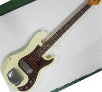 factory custom white used vintage relic faded P bass 4 string Jazz electric bass free shipping