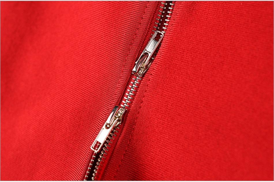 One Shoulder Red Asymmetrical Backless Bandage Dress