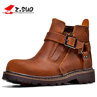 Z Suo Fashion Spring Autumn Women Shoes Genuine Leather Boots Breathable Comfortable British Women S Casual