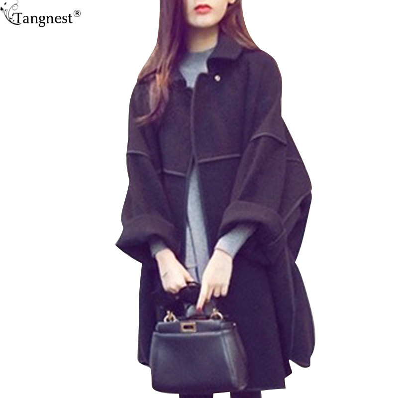 Aliexpress.com : Buy TANGNEST Loose Casual Pea Coat Trench For ...