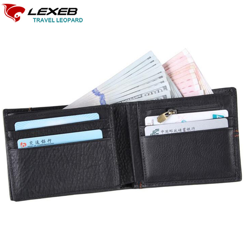 LEXEB Cow Leather Wallet For Men Business Credit Cards Case RFID Blocking Short Style ID Holders Bifold Stitching Design Black frank buytendijk dealing with dilemmas where business analytics fall short