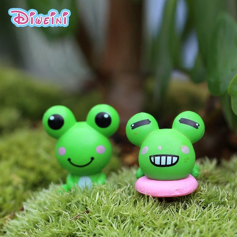 Ornament Model-Toy Figurine Miniature Home-Decoration Cartoon-Animal PVC S Moss Frog