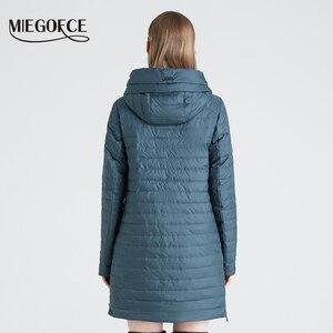 Image 4 - MIEGOFCE 2020 Frühling und Herbst frauen Mit Kapuze Jacke frauen Modische Winddicht Mantel Mit Große Taschen Lange Baumwolle Parka