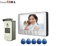 SmartYIBA Wired Door Intercom Rfid CMOS Camera IR Rainproof Doorbell Call Press Button 7 Inch Video Door Phone House Intercom