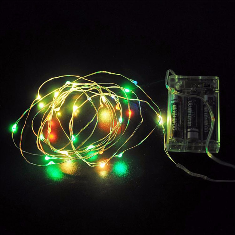 10M 100Led Lampada Waterproof Christmas Holiday Wedding Party Decoration LED Copper Wire String Lights Lamps