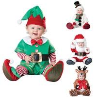 Christmas Gift Hot Baby Rompers Snowman Elk Santa Claus Clothes Children Romper Newborn Boys Girls Rompers