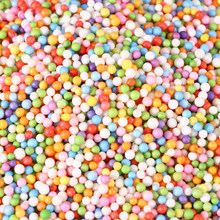 4 Bags Colorful Styrofoam Mini Foam Ball Small Beads Supplies For Slime DIY Art Craft Decoration Wedding Party Decoration(China)