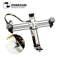 ZONESUN Draw Masters Lettering Robot XY plotter Drawing Robot kit X Y axis Writing Robot Support Laser Moduel Tool