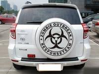 1PC Large Size 58 58cm Car Body Sticker PVC Reflective Car Styling Sticker Super Cool Round