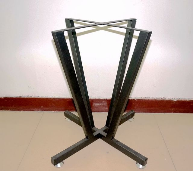 DIY Coffee Table Legs With Leveling Syestem, Black Table Legs Used Metal,  Raw Steel